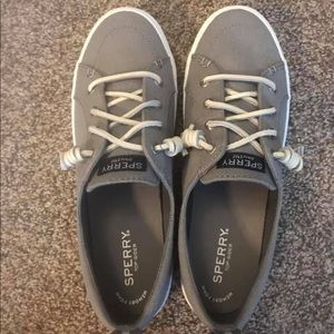 Grey Sperry's with memory foam